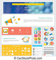 User Interface Design - illustration of flat style User ...