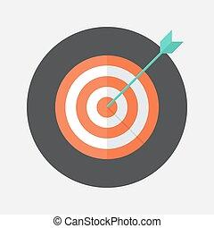 Flat target icon