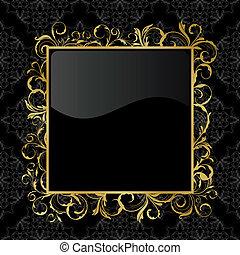 floral gold frame