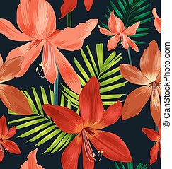 floral seamless pattern - Illustration of floral seamless...