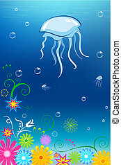 floral under water card