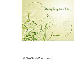 Illustration of Flowers background