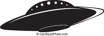 Illustration of flying saucer - Abstract elemental vector...