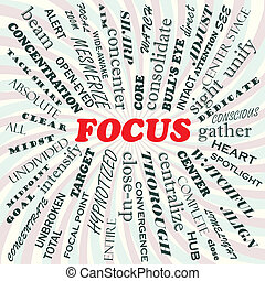 illustration of focus concept