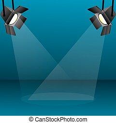 focus light - illustration of focus light on abstract...