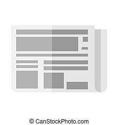 Illustration of folded newspaper.