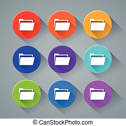 folder icons with various colors