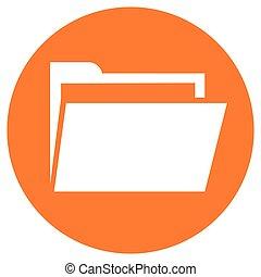 folder orange circle icon
