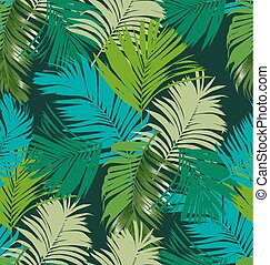 Illustration of foliage seamless pattern. palm leaf seamless pattern