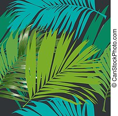 Illustration of foliage seamless pattern. palm leaf seamless pattern