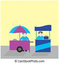 food carts with seller