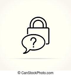 forgot password icon on white background