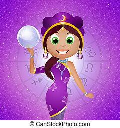 fortune-teller - illustration of fortune-teller