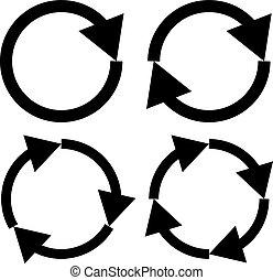 Illustration of Four arrow icon set