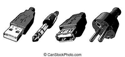 connectors - illustration of four connectors