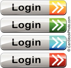 four login web buttons