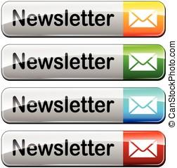 four newsletter buttons
