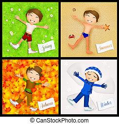 four season - illustration of four season