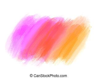 four Watercolor elements background.