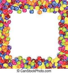 Frame of colorful candy