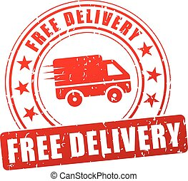 free delivery red stamp