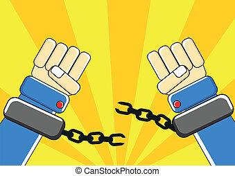 freedom - illustration of freedom