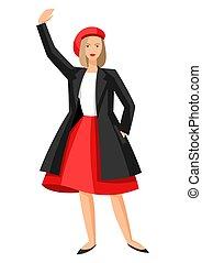 Illustration of Frenchwoman.