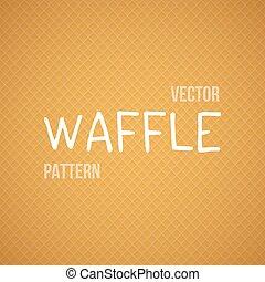 Fresh Baked Orange Waffle Vector Seamless Background Pattern