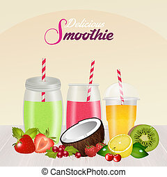 fresh smoothie with fruit