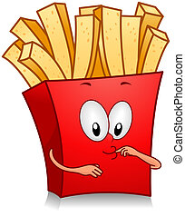 Fries - Illustration of Fries Character