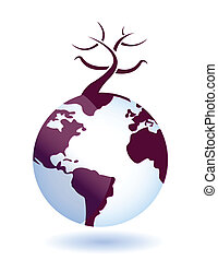 global environmental disaster - Illustration of full-scale ...