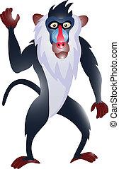 funny baboon cartoon