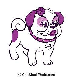 illustration of funny cartoon