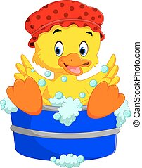 Funny duck cartoon - illustration of  Funny duck cartoon