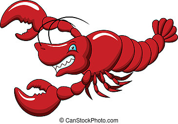 funny lobster cartoon