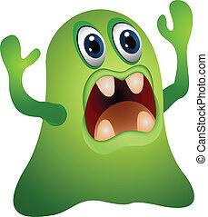 funny monster cartoon - illustration of funny monster...