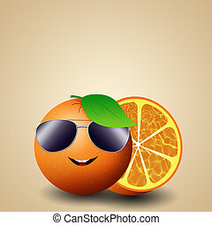 Funny orange for summer