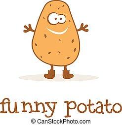 Illustration of funny potato. Vector