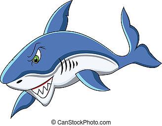 funny shark cartoon