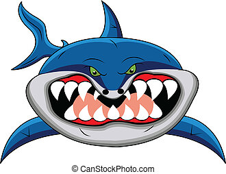 funny shark cartoon - illustration of funny shark cartoon
