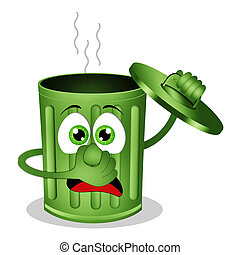Funny skinky garbage bin - illustration of Funny skinky...