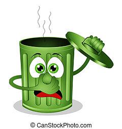 Funny skinky garbage bin - illustration of Funny skinky...