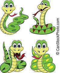 funny snake cartoon - illustration of funny snake cartoon