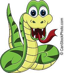 funny snake cartoon