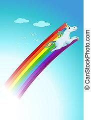 funny unicorns rainbow fantasy cartoon