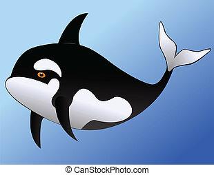 funny whale cartoon