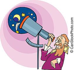Galileo the astronomer - Illustration of Galileo the ...