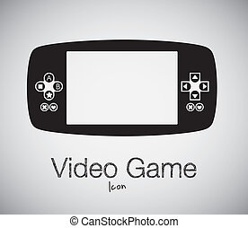 illustration of game controls, Videogames Silhouettes, vector illustration