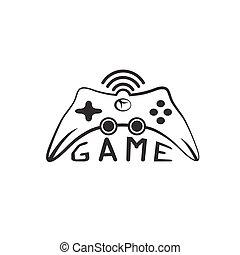 Illustration of Game pad Icon Vector Symbol