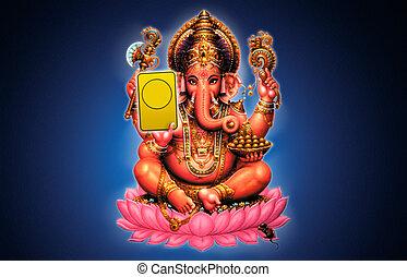 Illustration of Ganesh - Indian God